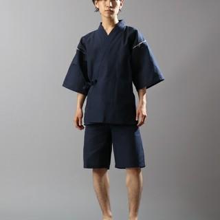 リピドー しじら織 甚平 新品 サイズL ネイビー(浴衣)