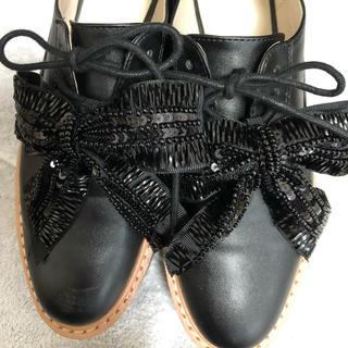 ザラ(ZARA)のZara プラットフォームシューズ 23.5cm(ローファー/革靴)