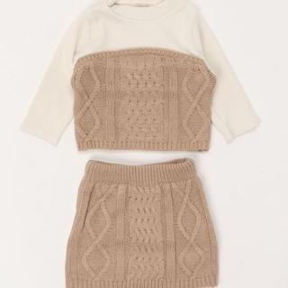 petit main - ニットビスチェ×スカートセット