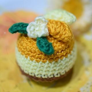 オレンジムースのケーキ(あみぐるみ)