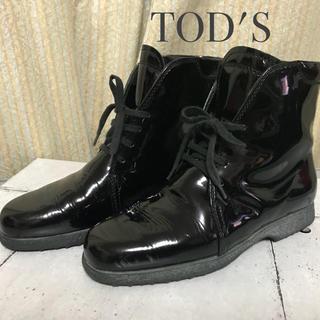 トッズ(TOD'S)のTOD's エナメルブーツ  トッズ(ブーツ)