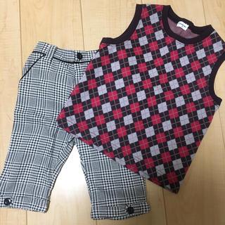 コンビミニ(Combi mini)のコンビミニ  100 110 セット 男の子 ベスト ズボン フォーマル(パンツ/スパッツ)