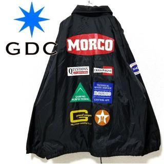 ジーディーシー(GDC)のGDC コーチジャケット 企業ロゴ 黒(ナイロンジャケット)