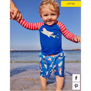 Boden - 新品 ミニボーデン  100 水着 ラッシュガード  男の子