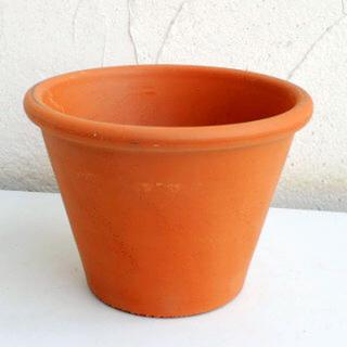 イタリア製 植木鉢☆テラコッタ 7号鉢 2個セット〜ガーデニングやインテリアに〜(プランター)