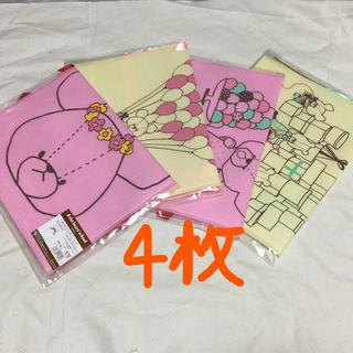クマノガッコウ(くまのがっこう)の4枚セット☆大きなギフトバッグ☆くまのがっこう(ラッピング/包装)