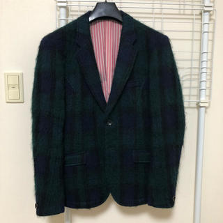ニコル(NICOLE)のNicole モヘア チェックジャケット サイズ46(テーラードジャケット)
