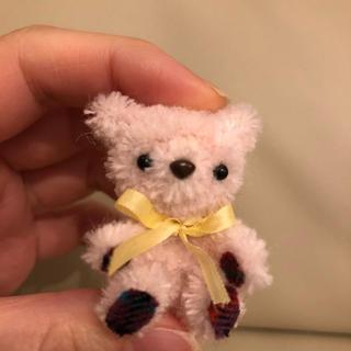 モールベア ピンク チェック お人形 cup of dolls(ぬいぐるみ)