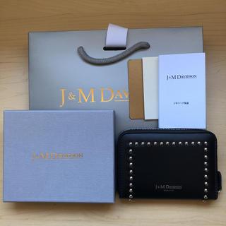 ジェイアンドエムデヴィッドソン(J&M DAVIDSON)の新品未使用♡スモールジップパースウィズスタッズ(財布)