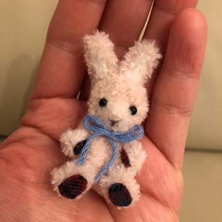 モールバニー ピンク チェック お人形 cup of dolls(ぬいぐるみ)