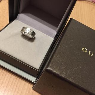 グッチ(Gucci)のGUCCI リング 希少 刻印6 ホワイトゴールド(リング(指輪))