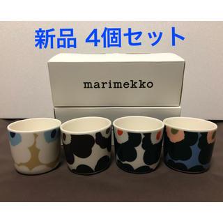 マリメッコ(marimekko)のmarimekkoマリメッコ UNIKKO ウニッコ 限定ラテマグ 4色セット(グラス/カップ)