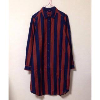 チャイルドウーマン(CHILD WOMAN)のストライプBIGシャツ ワンピース(ひざ丈ワンピース)