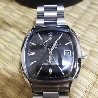 オリエント(ORIENT)のオリエントスタークラシック パワーリザーブ 自動巻きトノー型黒文字盤(腕時計(アナログ))