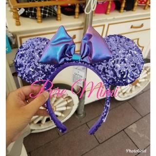 ディズニー(Disney)の香港ディズニー パープル スパンコールカチューシャ♡(キャラクターグッズ)