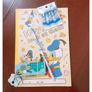 ドナルドダック(ドナルドダック)のドナルドセット Disney ディズニー 鉛筆 ノート 英単語帳 キャップ(ノート/メモ帳/ふせん)
