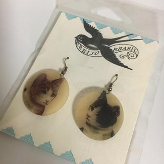 ツモリチサト(TSUMORI CHISATO)の新品 beijo brasil 猫ピアス ねこ ネコ(ピアス)