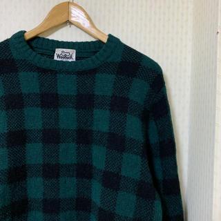 ウールリッチ(WOOLRICH)の90s! woolrich ウールリッチ 柄ニット チェック ニット セーター(ニット/セーター)