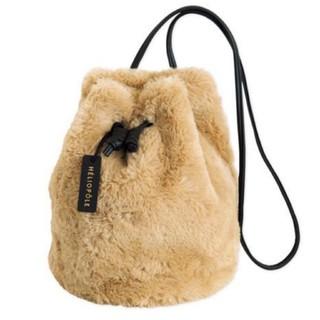 エリオポール(heliopole)の美品♡HELIOPOLE エリオポール ふわふわファーバッグ(ショルダーバッグ)