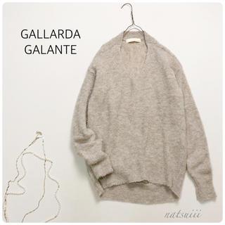 GALLARDA GALANTE - ガリャルダガランテ . アルパカ ブークレ Vネック プルオーバー