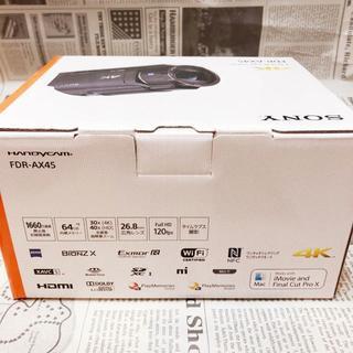 ソニー(SONY)の【新品】ソニー 4Kビデオカメラ FDR-AX45(ビデオカメラ)