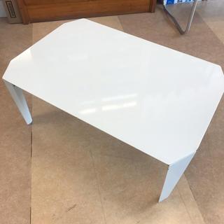 ニトリ(ニトリ)のホワイト✨ちゃぶ台(折たたみテーブル)
