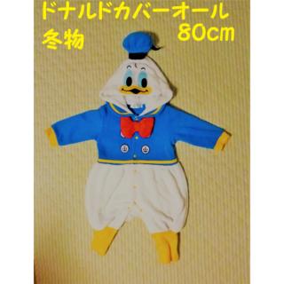 Disney - 冬物 80cm ♡ドナルド♡ ふわもこ 着ぐるみロンパース【送料込】