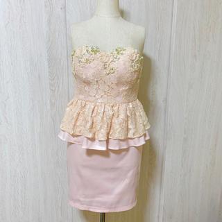 アン(an)のan ペプラム レース スパンコール キャバドレス 美品(ナイトドレス)