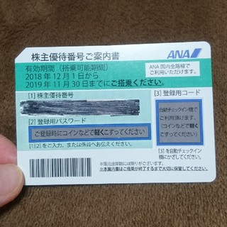 エーエヌエー(ゼンニッポンクウユ)(ANA(全日本空輸))のANA株主優待券1枚(航空券)