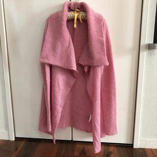 エディション(Edition)の美品♪ Editionのカーディガン 上品ピンク サイズ38(ニット/セーター)