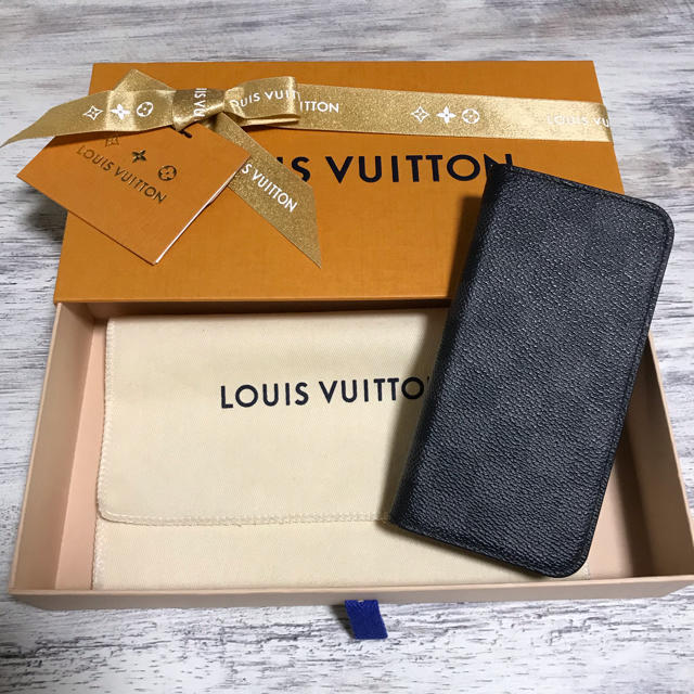 LOUIS VUITTON - ルイヴィトン iPhone Xケース ダミエ  グラフィットの通販 by り-ちゃむ's shop|ルイヴィトンならラクマ
