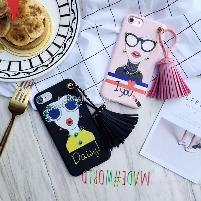 ぴーち様専用 iPhone6s スタッズ タッセル ガーリー かっこいいの通販 by made_world's shop|ラクマ