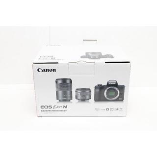 Canon - 新品 Canon EOS Kiss M レンズ、SDカードセット 黒