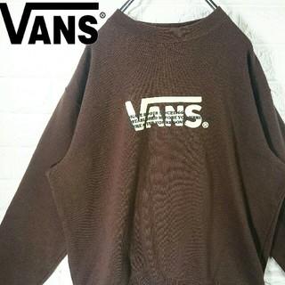 ヴァンズ(VANS)の【激レア】バンズ デカロゴ プリントロゴ スウェット トレーナー 90s(スウェット)