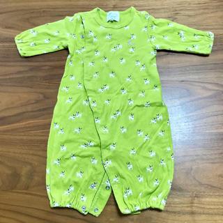 ハッカベビー(hakka baby)のhakka baby ロンパース ブルテリア ハッカベビー フリーサイズ(ロンパース)