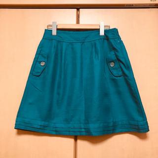 グローブ(grove)のgrove スカート ターコイズカラー グローブ(ミニスカート)