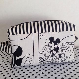 Disney - ハンドメイド レトロミッキーポーチ