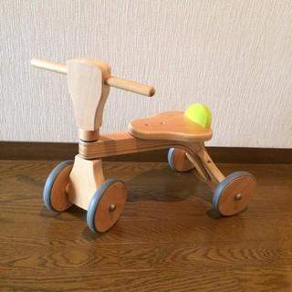木製の四輪車セット(三輪車)
