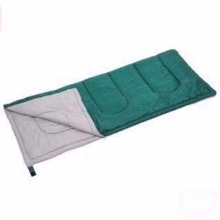 【最安値】寝袋 プレーリー 封筒型シュラフ グリーン(その他)