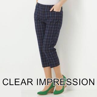 クリアインプレッション(CLEAR IMPRESSION)のクリアインプレッション チェック柄 クロップドパンツ 美品(クロップドパンツ)