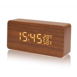 【高速発送】置き時計 デジタル 大音量 目覚まし時計 音声感知 【送料無料】