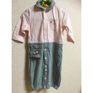 コンビミニ(Combi mini)の男女兼用 ロンパース カバーオールサイズ50-70 綿100%(カバーオール)