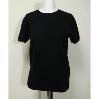 ドレステリア(DRESSTERIOR)のDRESSTERIOR ドレステリア 黒いカシミヤのシンプルな半袖セーター2(ニット/セーター)