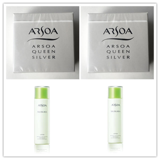 アルソア(ARSOA)の石鹸2個&ローション2個 ポーチ付き❣️(洗顔料)