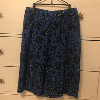 キャシャレル(cacharel)のCacharelのシルクスカート(ひざ丈スカート)