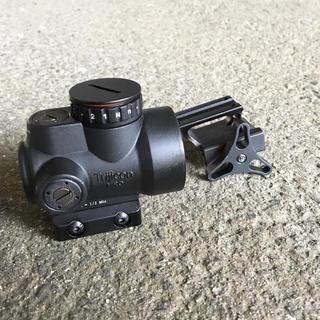 フルアルミ製 ロゴ オープンドットサイト 丸型 20mm タクティカル MRO(モデルガン)