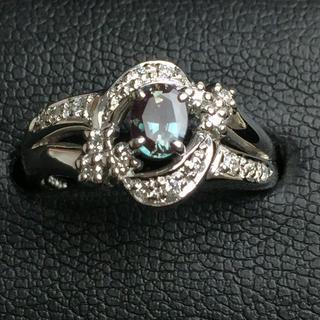 タサキ(TASAKI)のこゆたまま専用 タサキ PT900 アレキサンドライト×ダイヤモンド リング (リング(指輪))