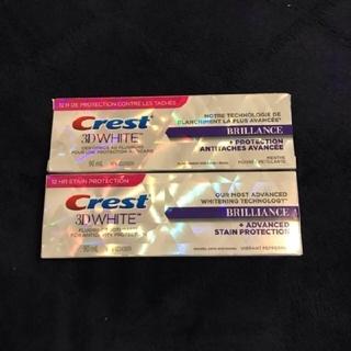 クレスト(Crest)のcrest 3D ホワイト ブリリアンス 日本未発売 海外購入品 2本セット(歯磨き粉)