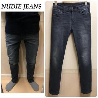 ヌーディジーンズ(Nudie Jeans)のNUDIE JEANSダメージジーンズ テーパードデニム  メンズ 送料込(デニム/ジーンズ)