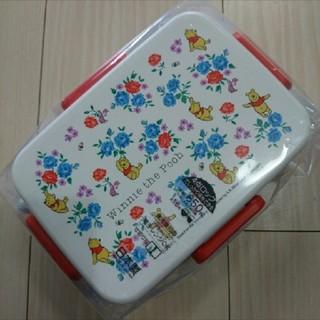 クマノプーサン(くまのプーさん)の新品 フラワープー 4ロック ランチボックス 弁当箱 650ml(弁当用品)